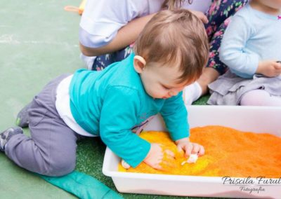 Vivência sensorial: o toque
