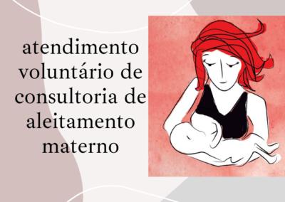 Atendimento voluntário de aleitamento materno